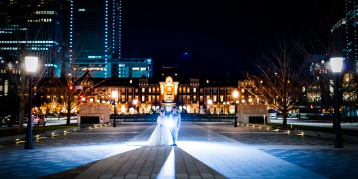 東京駅 前撮り 夜