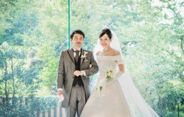 椿山荘での結婚式撮影